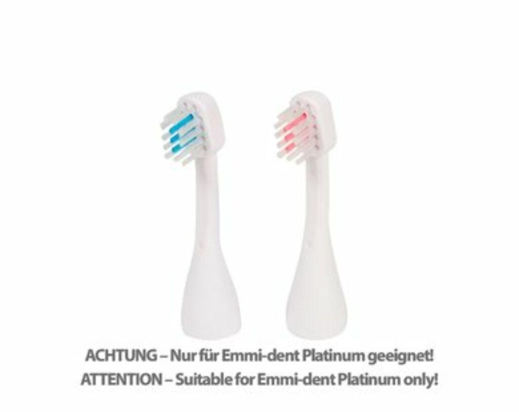 Emmi-dent S2 Platinum ultrahangos cserélhető fogkefefejek gyerekeknek és hölgyeknek (2x)