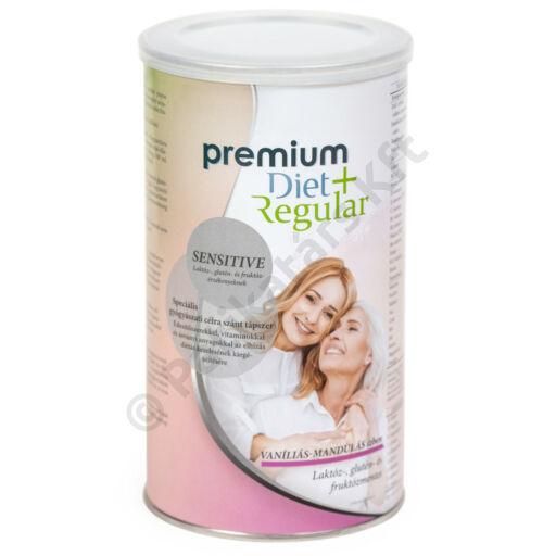 Premium Diet Regular +Sensitive - vaníliás-mandulás ízű (465g/18adag)